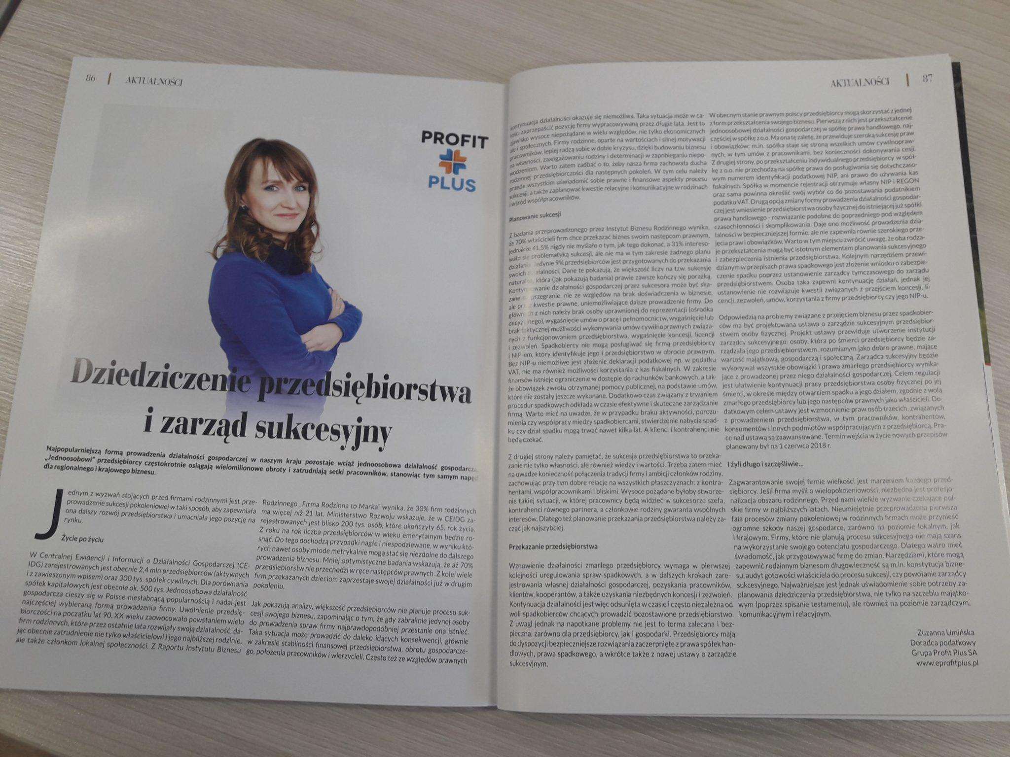 Artykuł Dziedziczenie przedsiębiorstwa i zarząd sukcesyjny