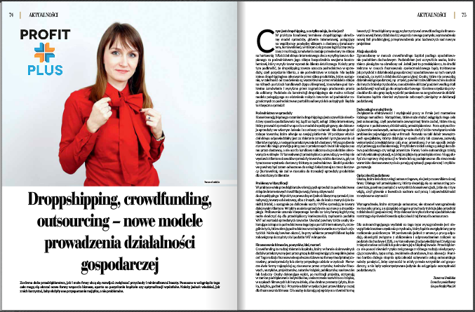 Artykuł droppsipping, crowdfunding, outsourcing